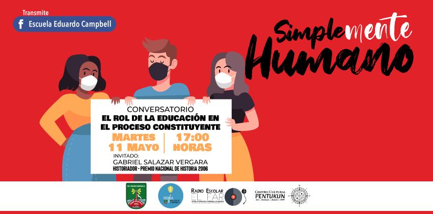 afiche rol educacion proceso constituyente ed. campbell banner 1
